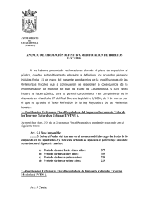 1.-Modificación Ordenanza Fiscal Reguladora del Impuesto