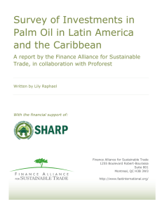 Survey of Investments in Palm Oil in Latin America and the Caribbean