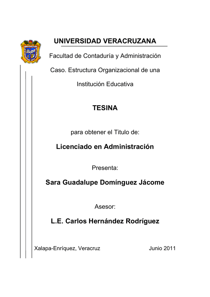 Estructura Organizacional De Una Institucion Educativa