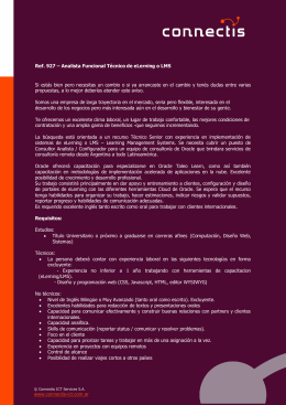 Plantilla de documento - Connectis ICT Services SA