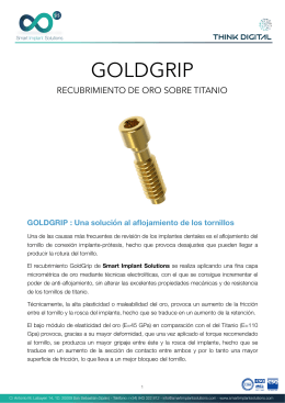 Tratamiento Goldgrip - Smart Implant Solutions Smart Implant