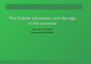 The Hubble parameter and the age of the universe