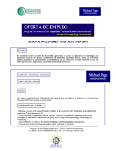 national procurement specialist opex (m/f)