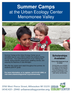 Summer Camps - Menomonee Valley Partners