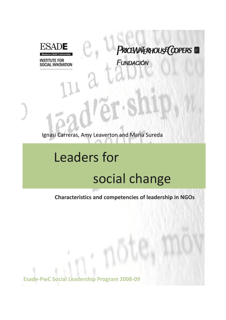 Leaders for social change