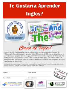 Clases de Ingles! - St. Joseph Catholic School