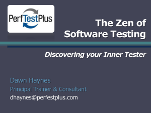 The Zen of Software Testing