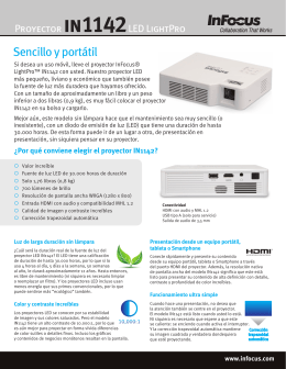 InFocus LightPro IN1142 Datasheet (Latin Spanish)