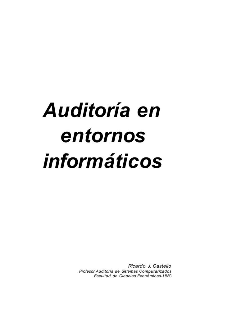 Auditoría en entornos informáticos