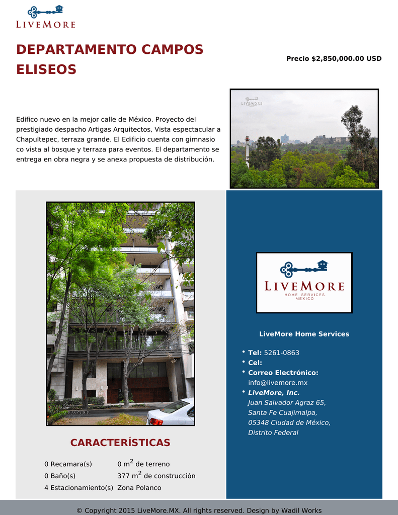 Departamento Campos Eliseos
