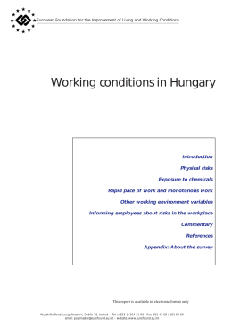 Cover image of Working conditions in Hungary - Eurofound