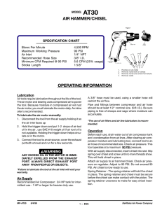 AIR HAMMER/CHISEL OPERATING INFORMATION