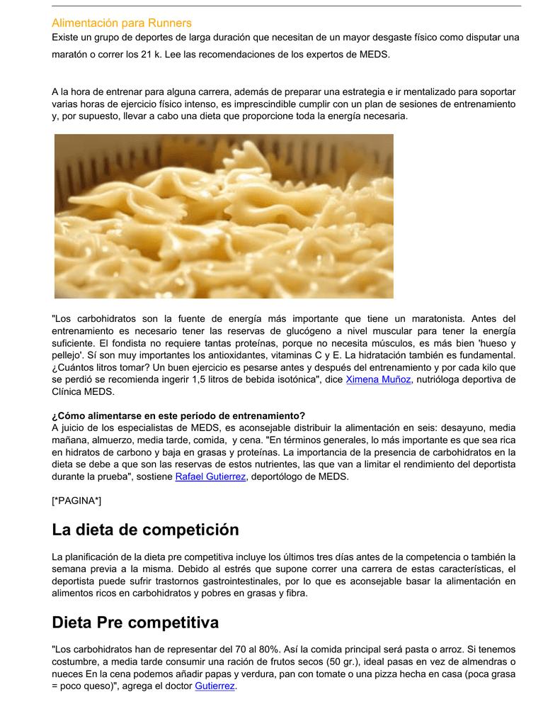 Dieta de la pasta y arroz
