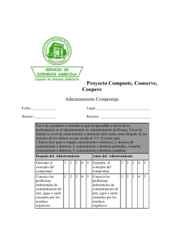Proyecto Composte, Conserve, Coopere