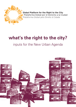 what`s the right to the city? - ESCR-Net
