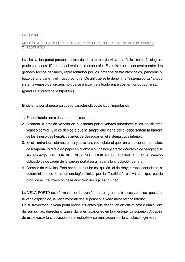 CAPITULO I ANATOMIA, FISIOLOGIA Y FISIOPATOLOGIA DE LA