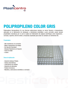 polipropileno color gris