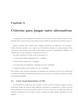 Criterios para juzgar entre alternativas