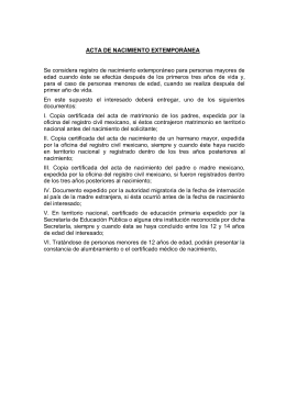 Documentos complementarios: