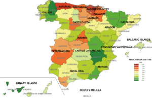 canary islands andalusia castile-leon aragon galicia castile la