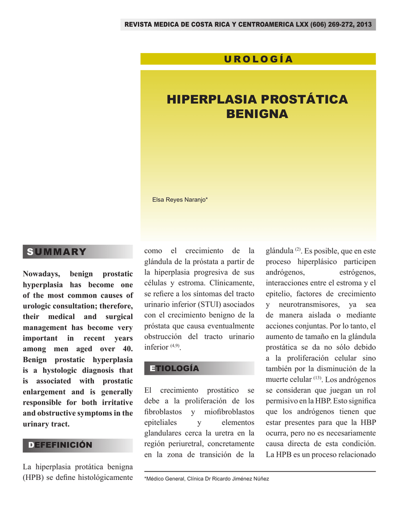 cuestionario de hiperplasia prostática benigna