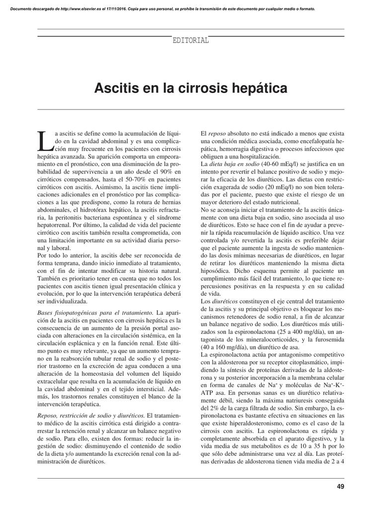dieta para cirrosis hepatica ascitis