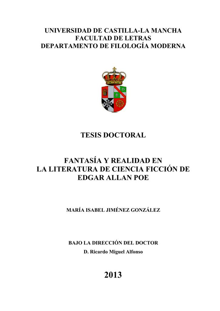 30f7663222 Tesis Doctoral Fantasía y realidad en la literatura de