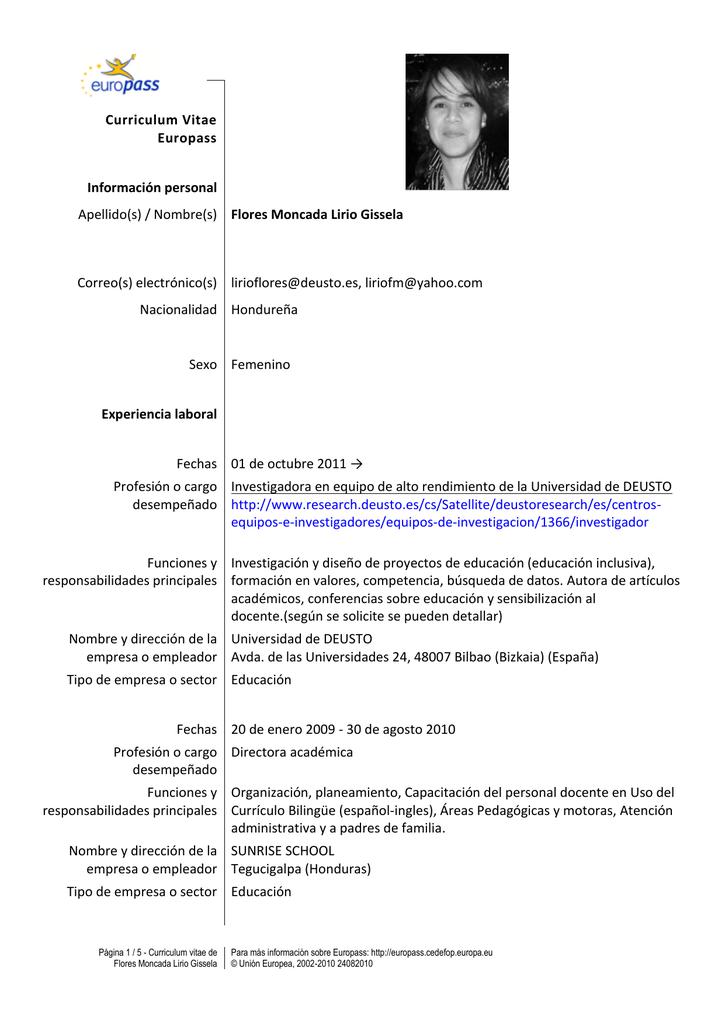 Curriculum Vitae Deusto Research