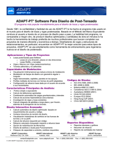 ADAPT-PT® Software Para Diseño de Post