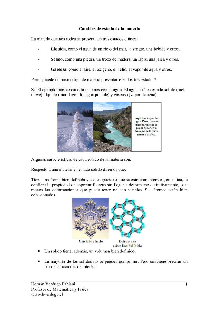 Cambios De Estado Ejercicios De Física Y Matemática