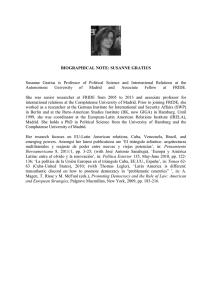 BIOGRAPHICAL NOTE: SUSANNE GRATIUS Susanne