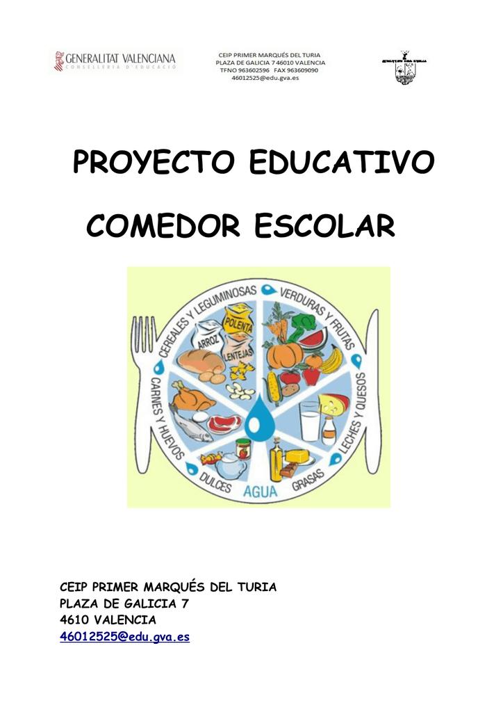 proyecto comedor escolar