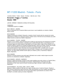 MT-11255 Madrid - Toledo - París