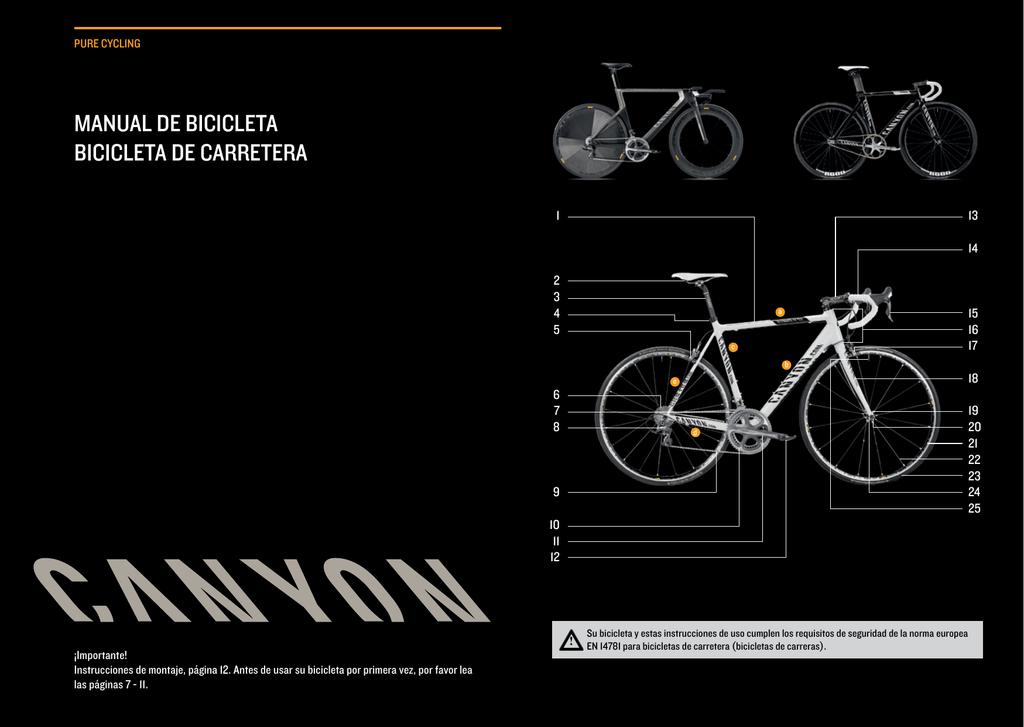 manual de bicicleta bicicleta de carretera