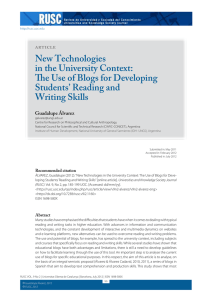 New Technologies in the University Context: The Use of