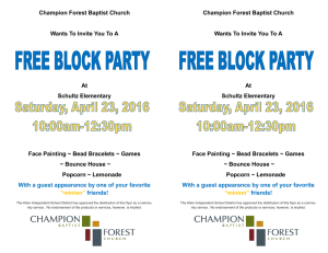 Champion Forest Baptist Church Wants To Invite You To