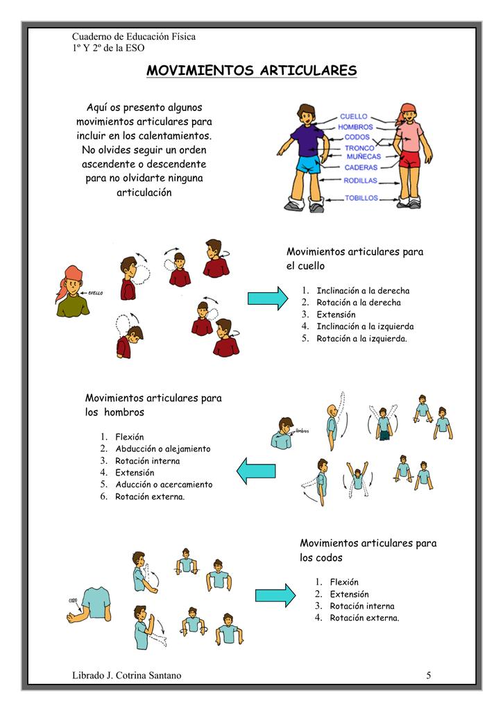 5 movimientos articulares pregnancy las muñecas