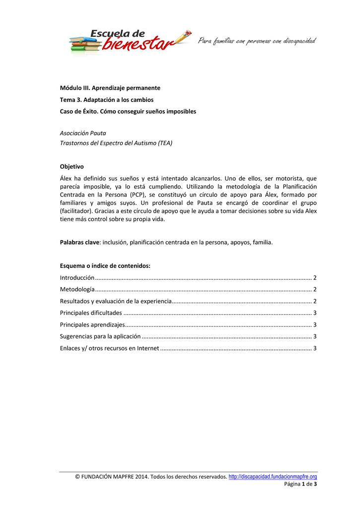 Texto Completo Escuela De Familias Y Discapacidad