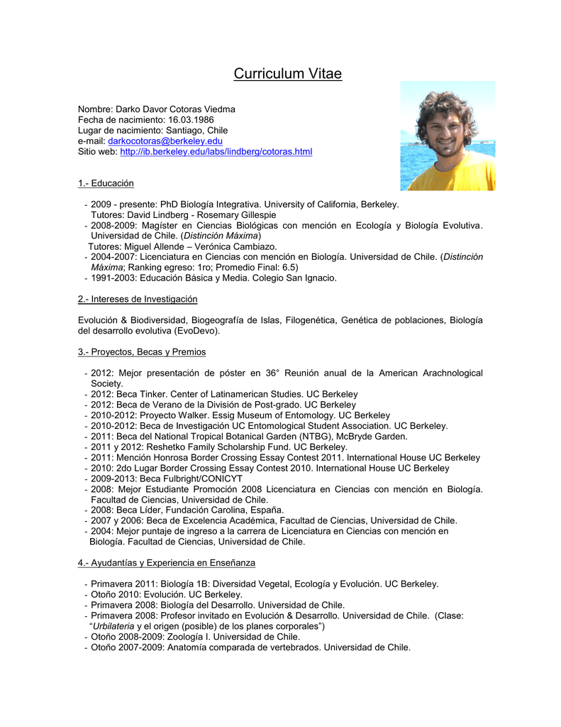 Curriculum Vitae - University of California, Berkeley