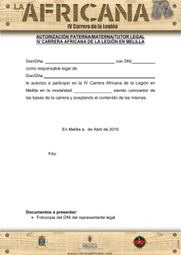 AUTORIZACIÓN PATERNA/MATERNA/TUTOR LEGAL IV