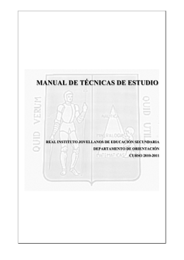 manual de técnicas de estudio - Real Instituto de Jovellanos