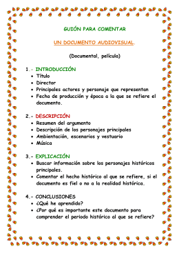 GUIÓN PARA COMENTAR UN DOCUMENTO AUDIOVISUAL