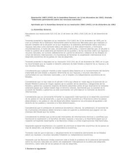 Resolución 1803 (XVII) de la Asamblea General, de 14 de
