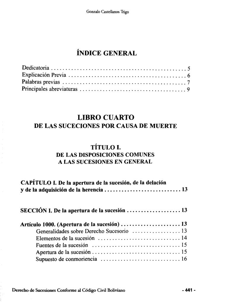Derecho de sucesiones conforme al Código Civil boliviano
