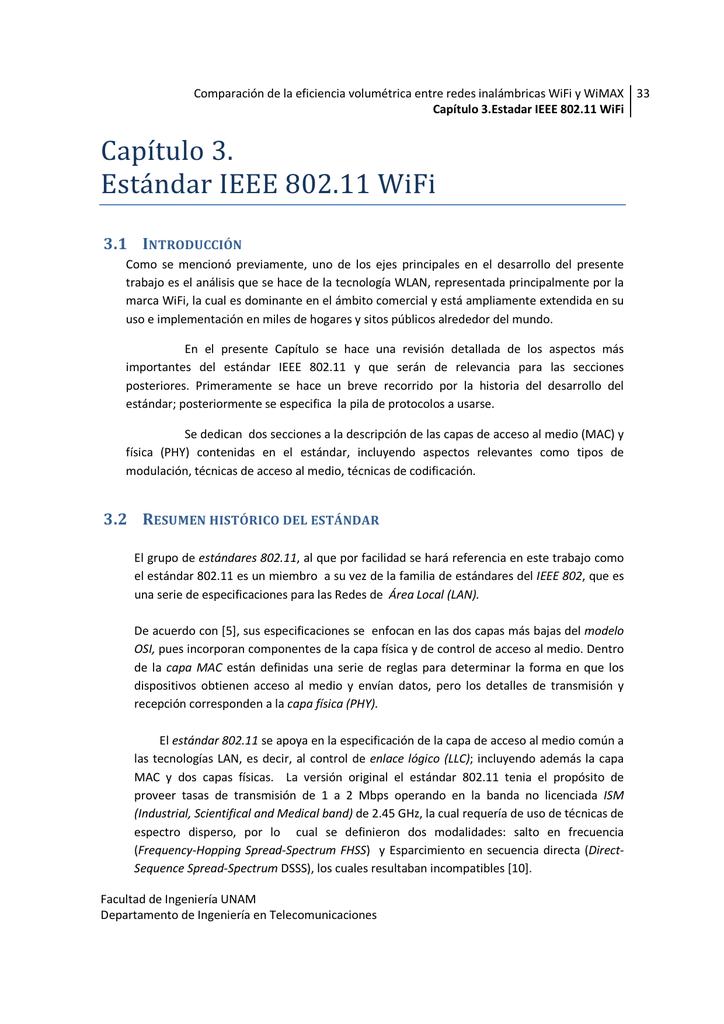 Capítulo 3. Estándar IEEE 802.11 WiFi