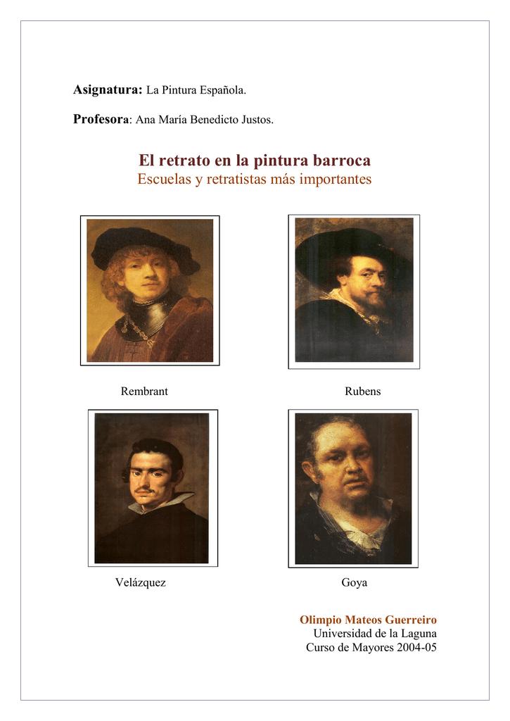El retrato en la pintura barroca