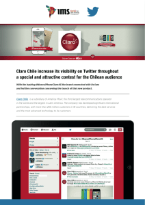 Claro Chile increase its visibility on Twitter