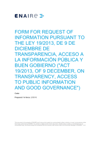 form for request of information pursuant to the ley 19