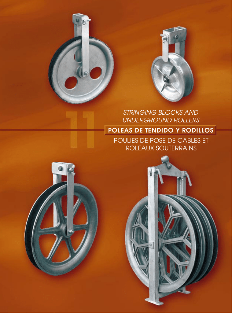 Polea 60//ømm para cable de acero Di/ámetro 6/mm
