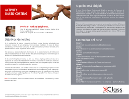 descripcion del curso activity based costing